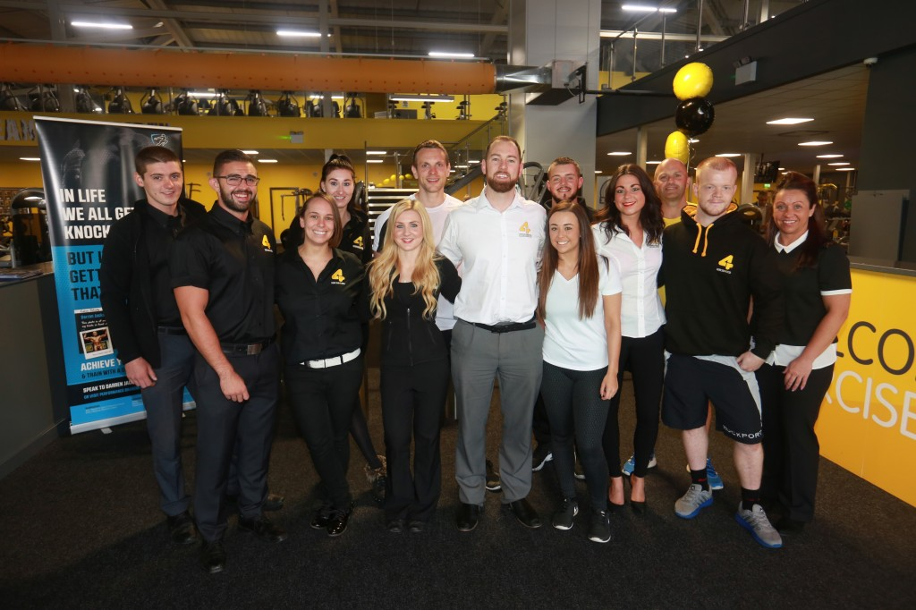 Staff at Xercise4less celebrating the opening